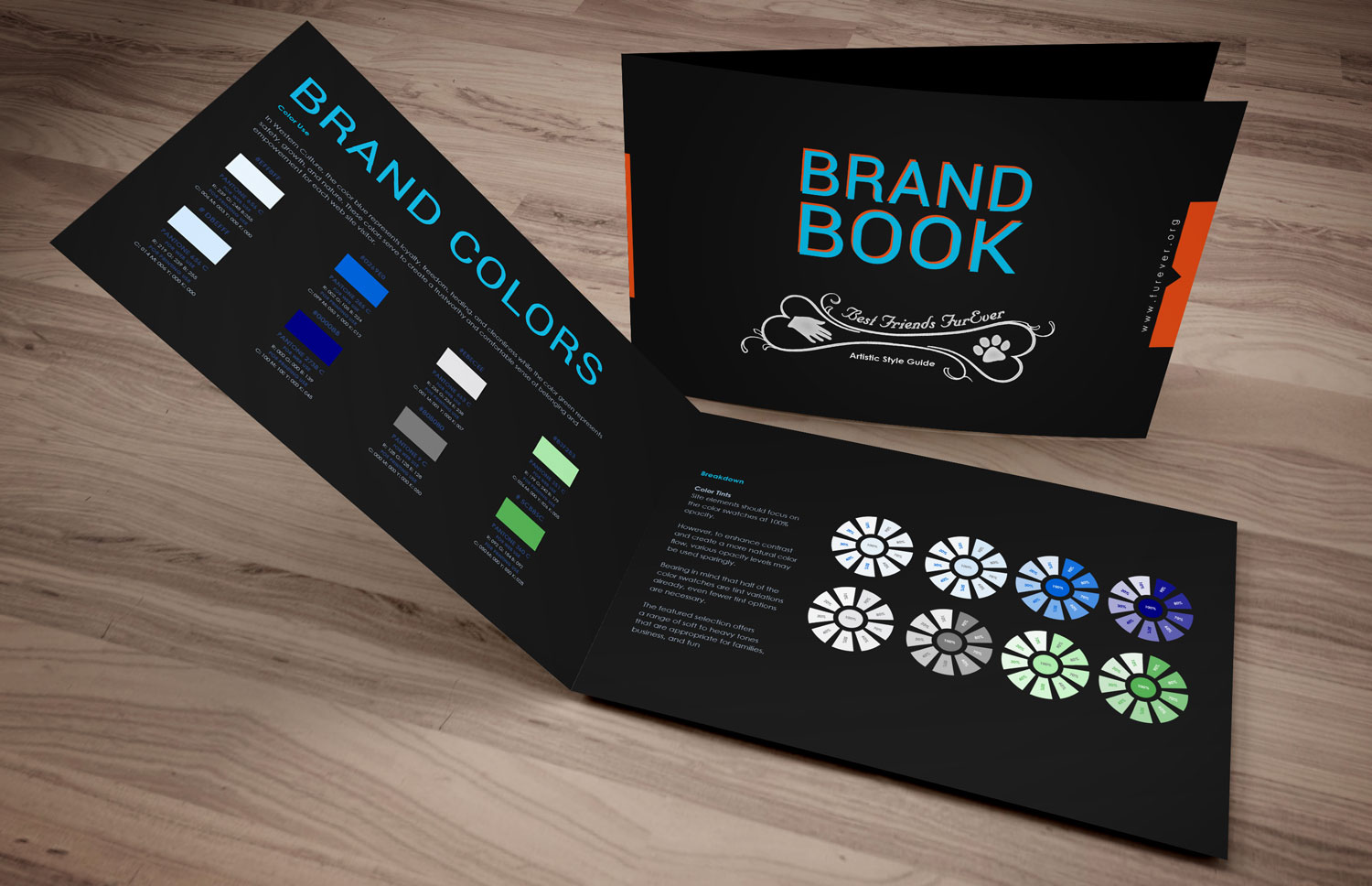 Brand Colors for Best Friends FurEver, Brand Book