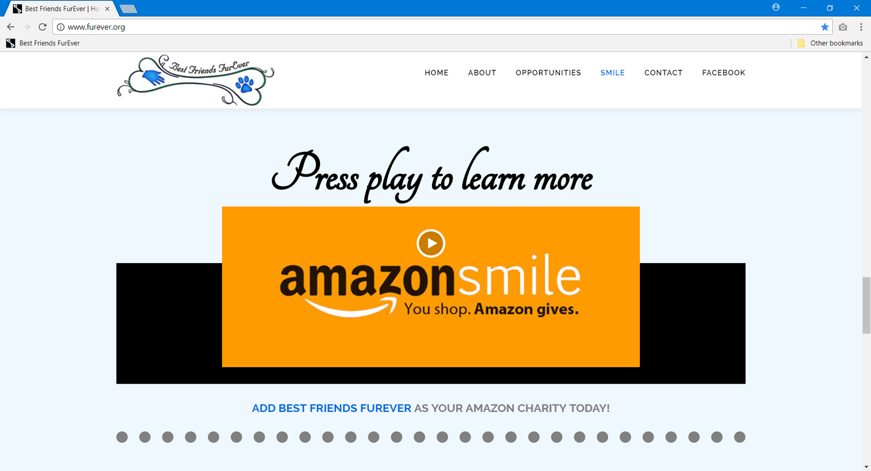 Best Friends FurEver, Amazon Smile section