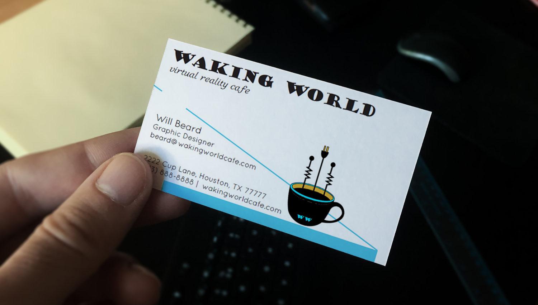Waking World business card