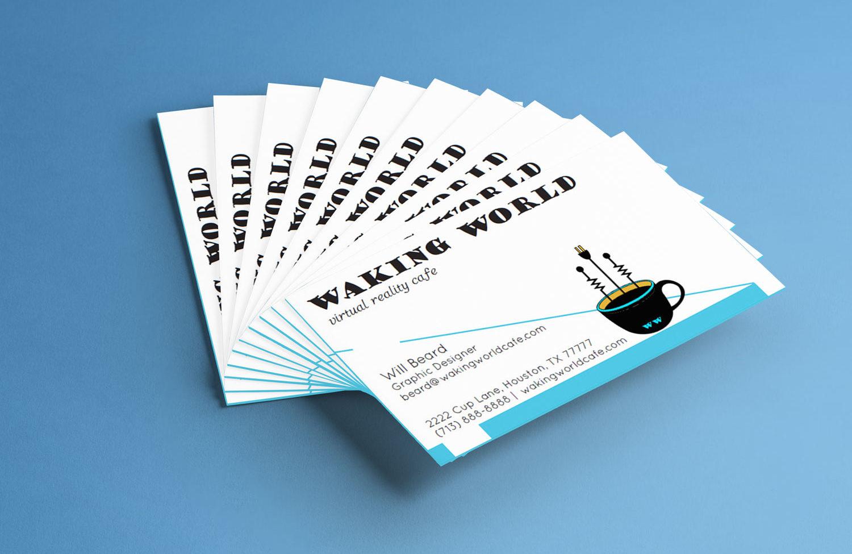 Waking World business cards