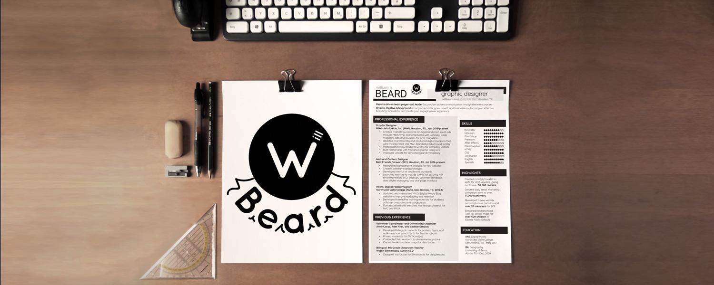 Will Beard resume and logo